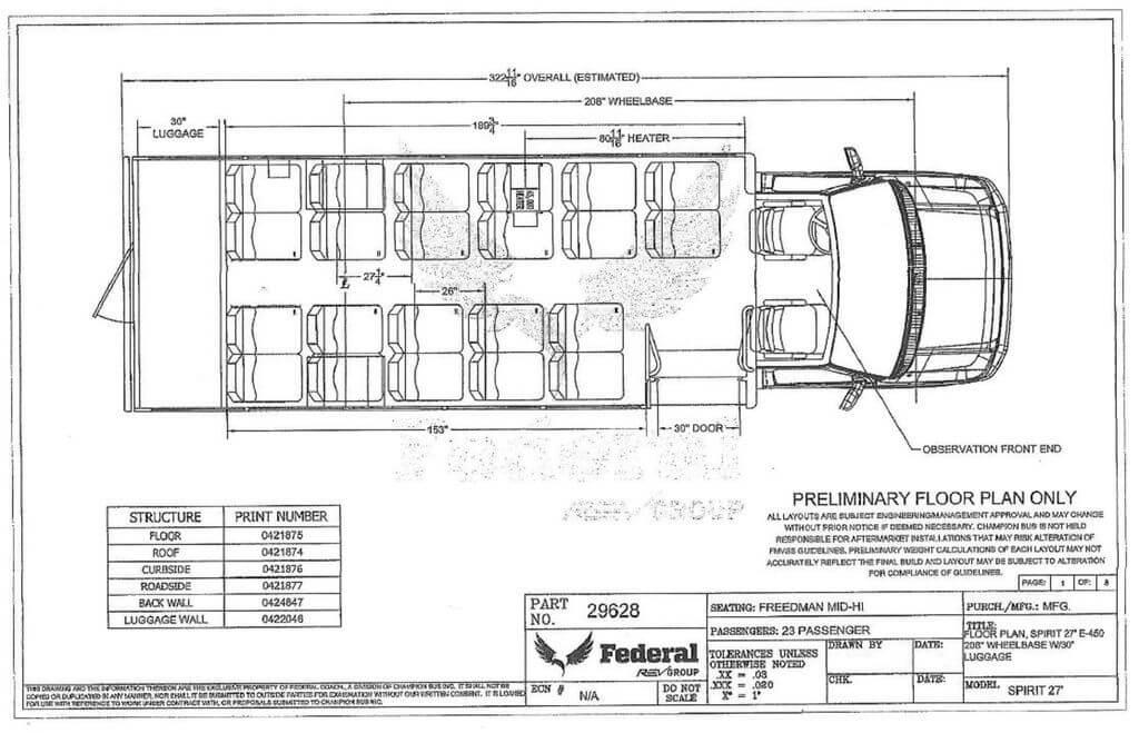 2017 Federal Spirit SP270SP Ford E-450