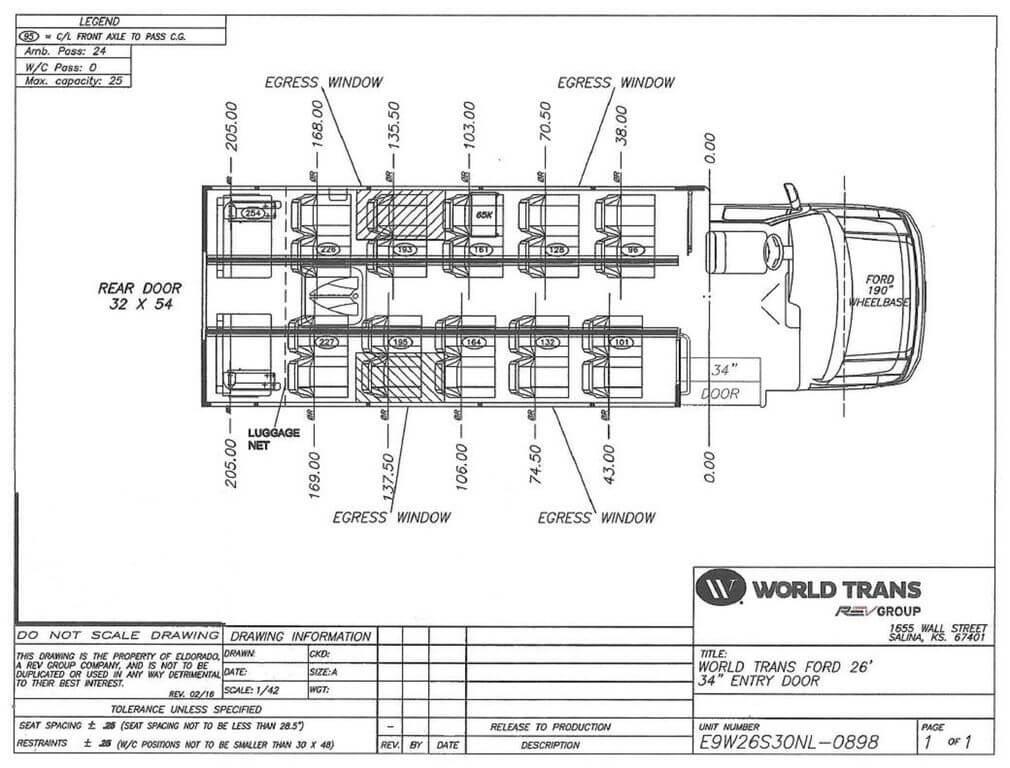 2018 World Trans WT260 Ford E-450